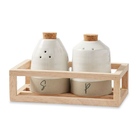 Stoneware Salt & Pepper Set