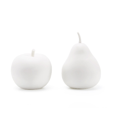 Apple & Pear Porcelain Figures