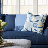 Fresh Blooms Pillow in Blue