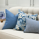 Harbor Blue Pinstripe Pillow