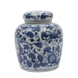 Small Blue and white ginger jar in two sizes