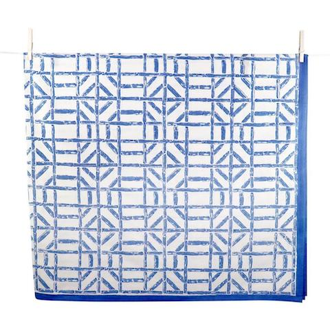 Blue Bamboo Tablecloth