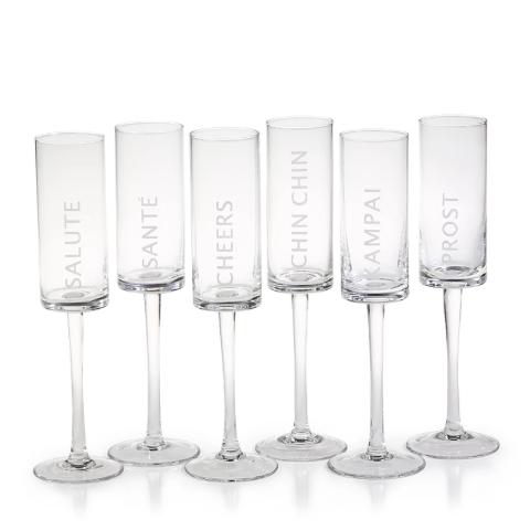 Celebration Champagne Flutes - Set of 6