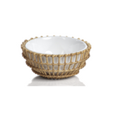 Wicker & Bamboo Condiment Bowls