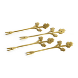 LIttle Flower Cocktail Forks - Set/4