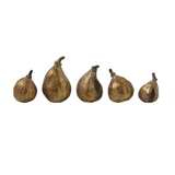 Gold Resin Figs - Set of 5
