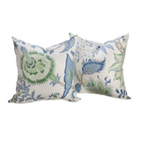 Green and Blue Floral Pillow