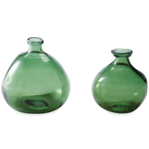 Imperfect Green Glass Vase