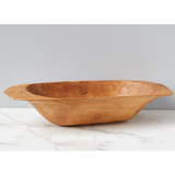 Vintage Natural Dough Bowl, Large