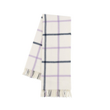 Tattersall Lavender and Navy on Cream windowpane Throw