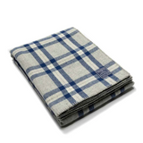 Minnehaha Falls Wool Throw in Blue & Gray