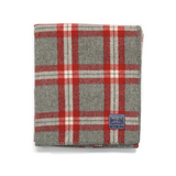 Minnehaha Falls Wool Throw in Red & Gray