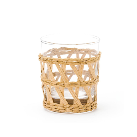 Raffia-Wrapped Tumbler in Natural