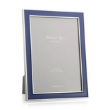 Addison Ross Navy enamel and silver frame 5x7 4x6