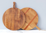 Round Oak Charcuterie Board, Large