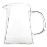 Glass Pitcher with Square Base