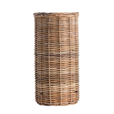 Wicker and Glass Vase
