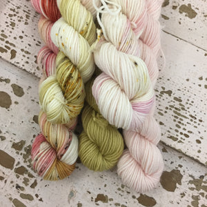 Pink and Gold mini skein set #2