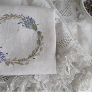 Lavender and Bees Embroidery Kit by The Stitchery