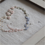 Floral Heart Garland Embroidery Kit by The Stitchery