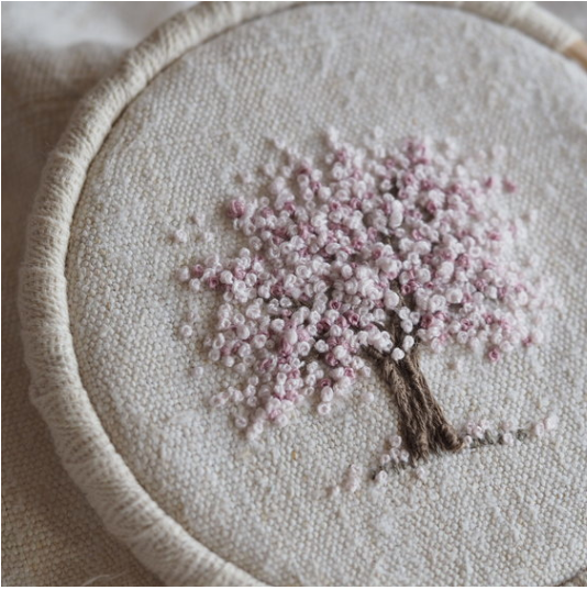 Spring Tree Mini Embroidery Kit by The Stitchery
