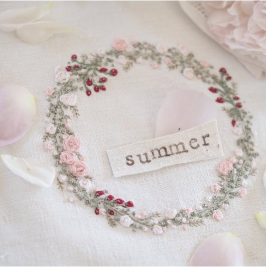 Summer  Embroidery Kit by The Stitchery
