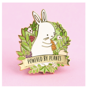 Powered by Plants Bunny Pin