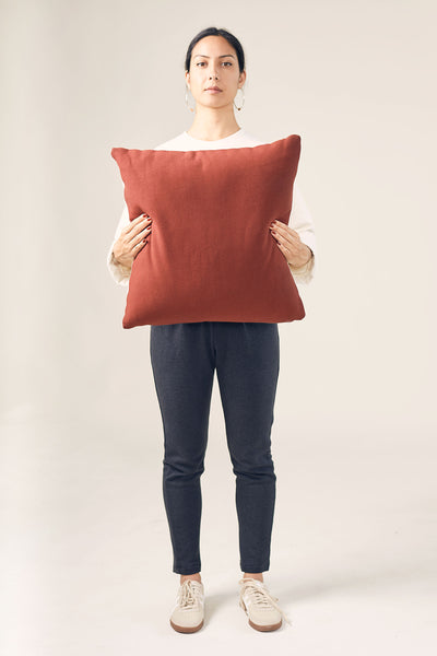 The Natural & Rust Cushion