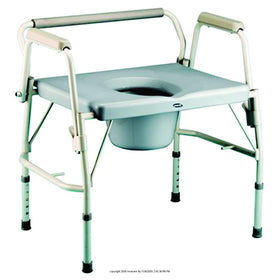 Invacare® Bariatric Drop-Arm Commode Heavy Duty