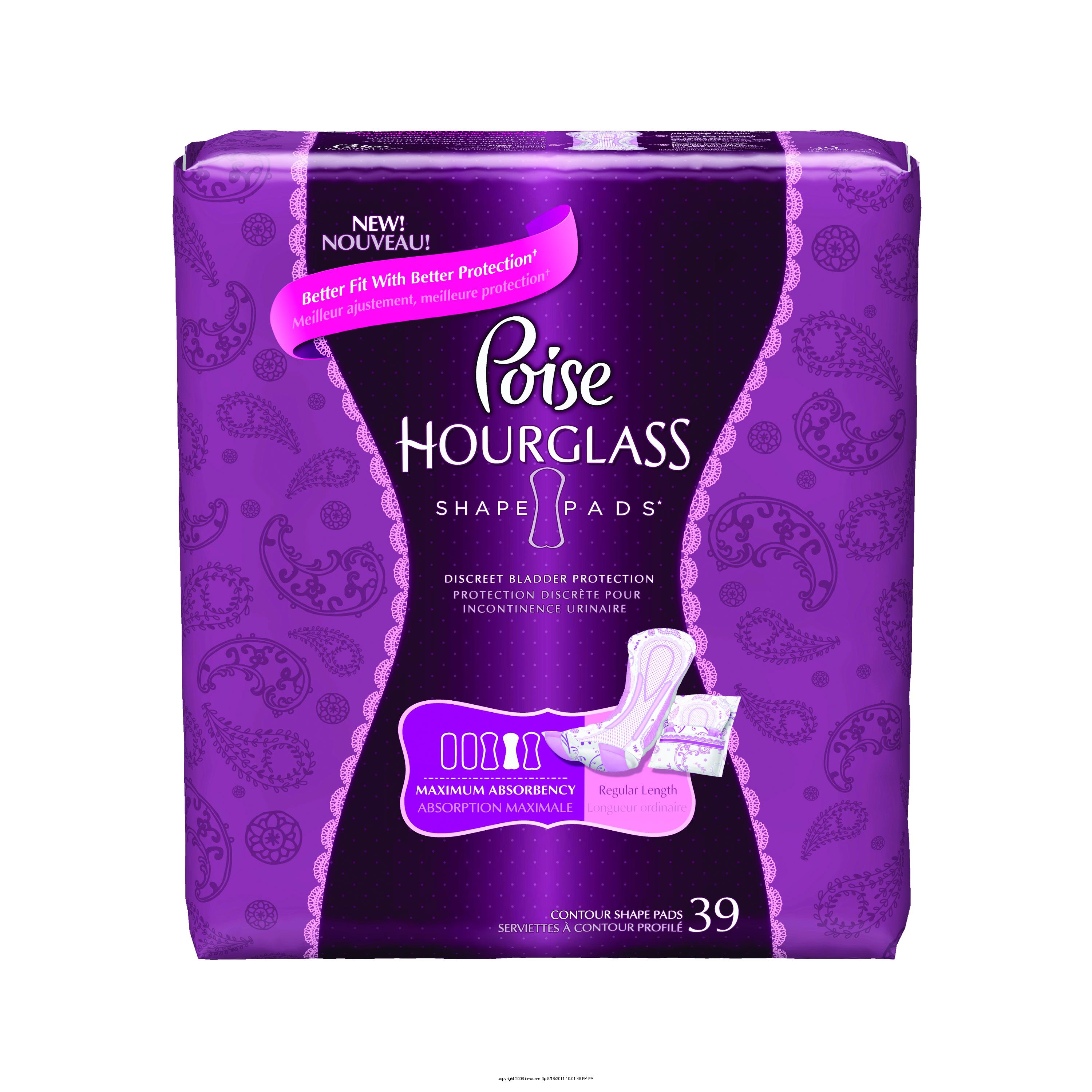 Poise® Hourglass Pads