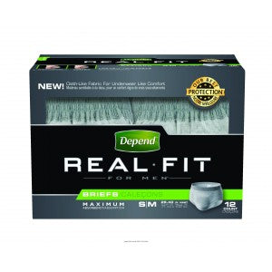 Depends® Real Fit® Briefs for Men