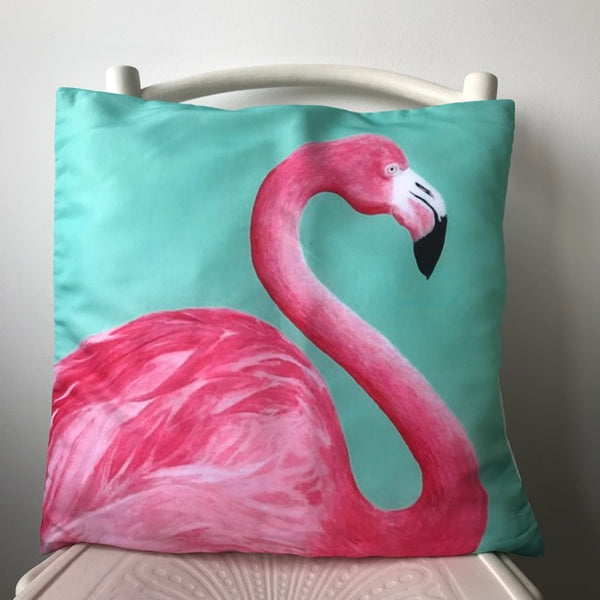 Tropical Pink Flamingo Cushion Cover