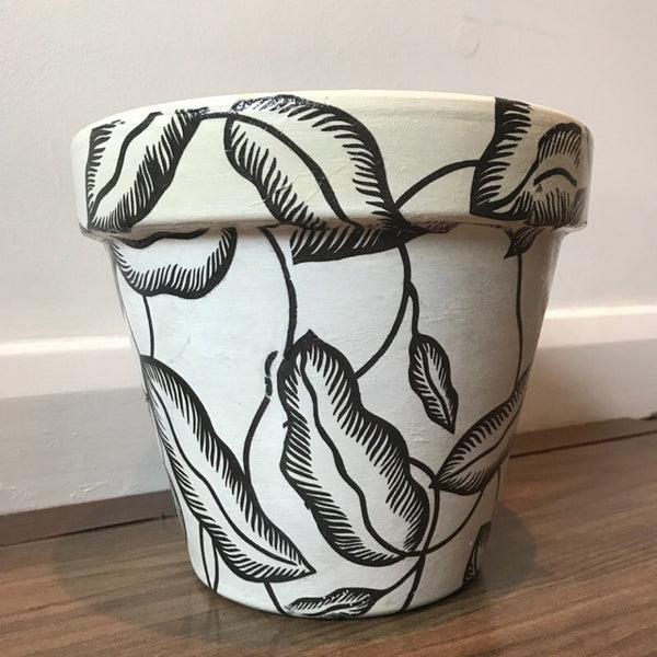 Banana Palm Leaf Large Plant Pot