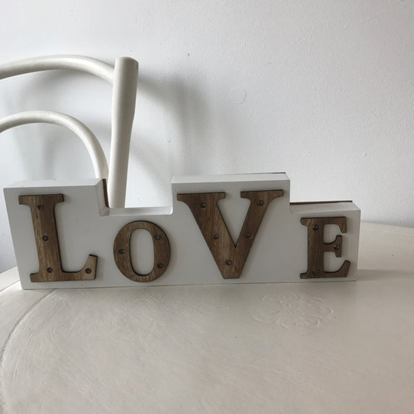 LOVE Sign with LED Lights