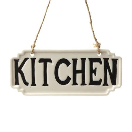Kitchen Porcelain Hanging Sign