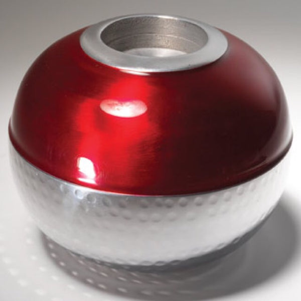 Red Enamel Tealight Holder