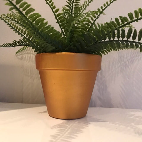 Gold Terracotta Plant Pot 15cm