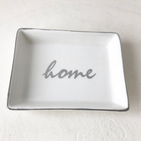 Gold Home Ceramic Trinket Dish Tray