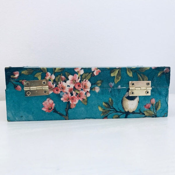 Blossom & Bird Design Wooden Keepsake Box