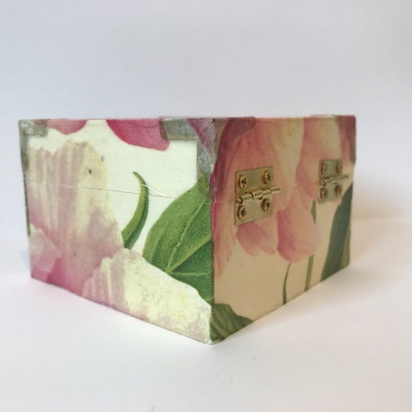 Pink Peony Flower Wedding Small Box - Palm Pot & Peony