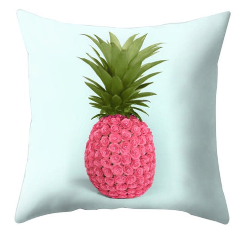 Tropical Pink Pineapple Cushion Cover