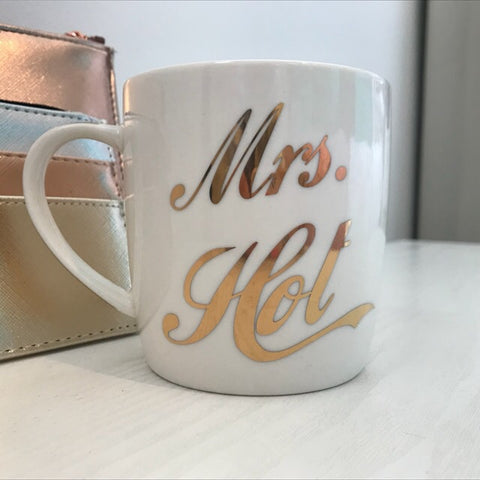 Gold Mrs Hot Boxed Mug