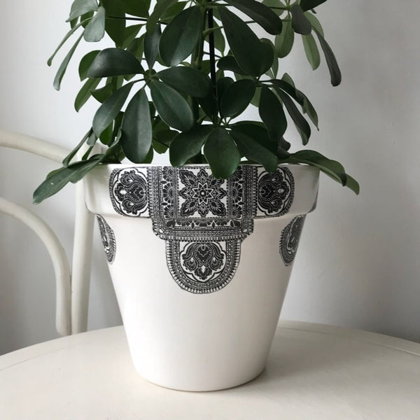 Black Vintage Extra Large Plant Pot Planter