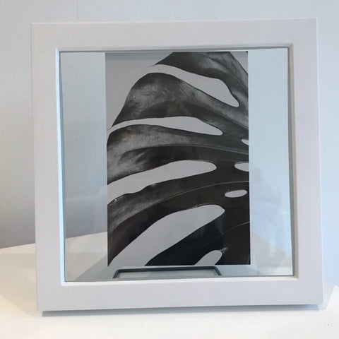 Black White Botanical Leaf Frame