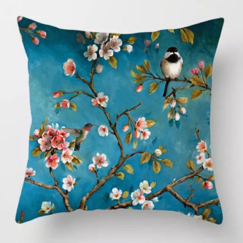 Blossom and Bird Cushion Cover - Palm Pot & Peony