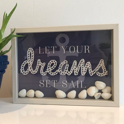 Let your dreams set sail Plaque Hanging Home Decor