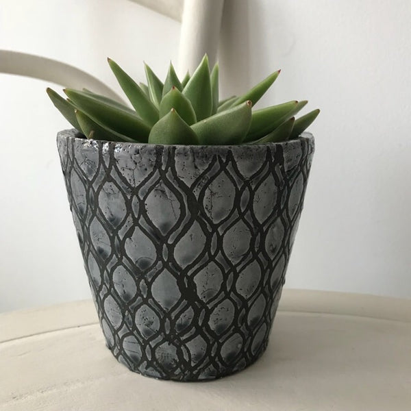Grey & Blue Glazed Pot Planter Small
