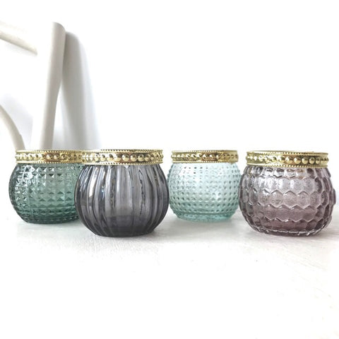 Jewel Candle Tealight Holders Set of 4