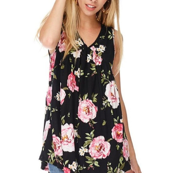 Floral Baby Doll Tank