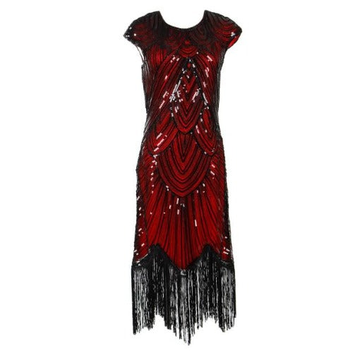 Flapper Dress Black & Red